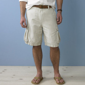 shorts and flip flops
