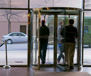 My friend got into the revolving door of his office building and was moving forward when bam the door suddenly stopped. He hit the glass front with his ... & Escalator And Revolving Door Etiquette | Clise Etiquette Pezcame.Com